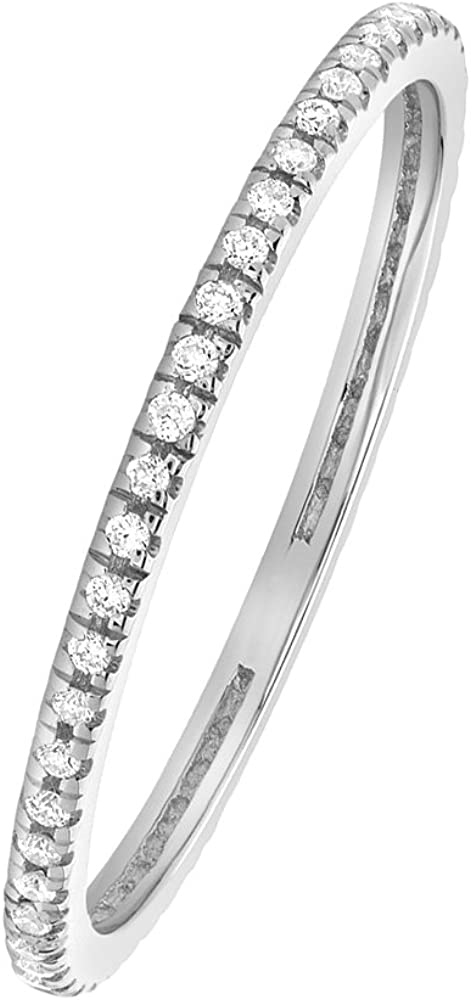 2mm Bar Set Wedding Band 0.70 Ct Full Eternity Diamond Ring 14k White Gold GP