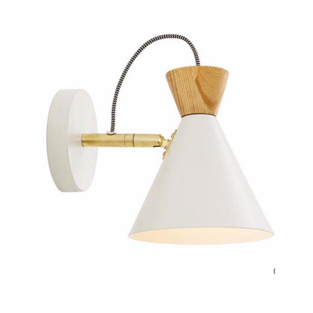 T-ZBDZ Kinderzimmer Nachttischlampe Schlafzimmer Wandlampe Leselampe moderne Gang Treppe Spiegelscheinwerfer, A