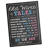 Katie Doodle #GR001 Premium Baby Gender Reveal Party Poster - Old Wives Tales Poster - Pregnancy Gender Reveal Party Decoration & Accessories For Boys & Girls
