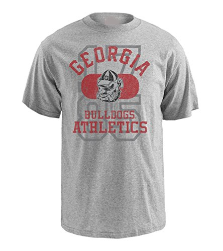 NCAA Georgia Bulldogs Pro Weight Short Sleeve Logo T-Shirt, X-Large