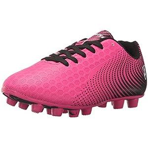 Vizari Unisex-Kid's Stealth FG Black/White Size 10 Soccer Shoe