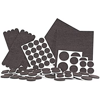 Felt Pads, Heavy Duty Adhesive Furniture Pads - Floor Protector for Tiled,  Laminate, Wood Flooring - 98 Pieces Floor Protectors, Felt Chair Pads, ...
