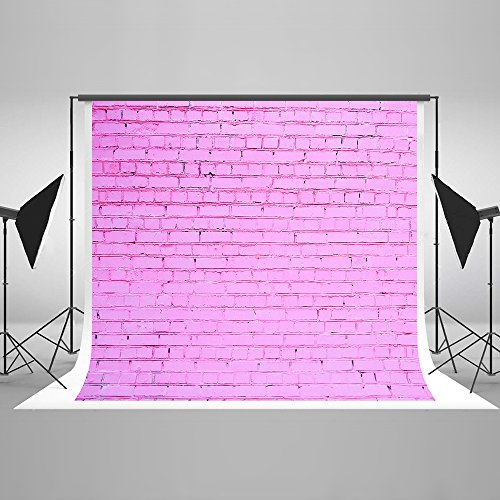 Kate 7ft(W) x5ft(H) Pink Brick Wall Photography Backdrop Seamless Photo Background Studio Props for Photographer Girls Baby Kids Cotton Cloth and Upgrade (Artistic Ceiling Centers)