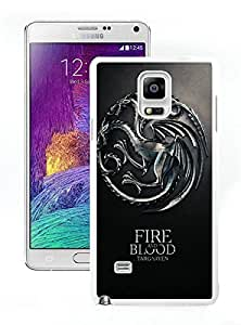 Fashion Custom Design Game Of Thrones Fire And Blood Targaryen House White Samsung Galaxy Note 4 N910A N910T N910P N910V N910R4 Case