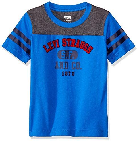 Levi's Boys' Little Applique Shirt, Strong Blue, 4 ()