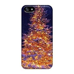 Excellent Design Lit Christmas Tree In Snow Phone Case For Iphone 5/5s Premium Tpu Case