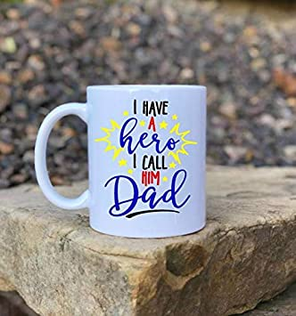 Dad Hero Mug Fathers Day Gift Birthday Present Daddy Daughter