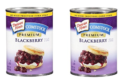 Duncan Hines Comstock Premium Blackberry Pie Filling & Topping, 21 Oz (Pack of 2)