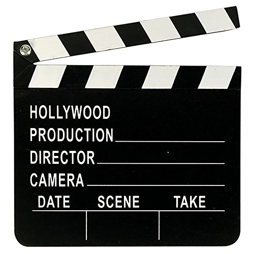 Amscan Hollywood Clapboard (One Size) (Black/White)]()