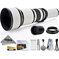 Opteka 650-2600mm High Definition Ultra Telephoto Zoom Lens for Panasonic Micro Four Thirds System Digital Cameras + Premium 10-Piece Cleaning Kit