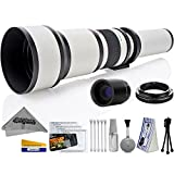 Opteka 650-2600mm High Definition Ultra Telephoto Zoom Lens for Sony E-Mount Digital Cameras + Premium 10-Piece Cleaning Kit