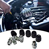12x1.5 male high side a/c charge port valve includes caps aftermarket replacement for 800-955 15-5438 original equipment air conditioning service cap system seal kit 5pcs universal fits for VW GM Ford