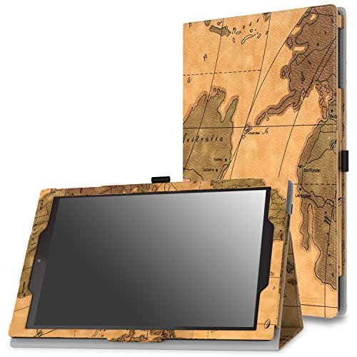 - MoKo Case for Fire HD 10 Tablet (5th Generation, 2015 Release) - Slim Folding Cover with Auto Wake/Sleep for Amazon Fire HD 10.1 Inch Tablet, Map H