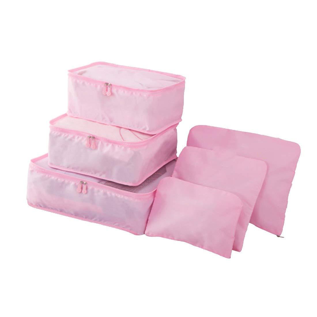 34eb9f9c1e5b Amazon.com : Saasiiyo 6 Pcs/Set Korean Style Travel Home Luggage ...