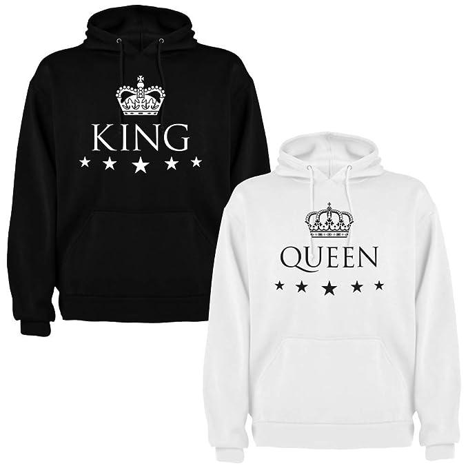 Pack de 2 Sudaderas para Parejas King y Queen (Mujer Tamaño L + Hombre Tamaño