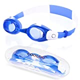 COOLOO Swim Goggles for Kids and Early Teens, Anti-Fog, Waterproof, UV Protection Swimming Glasses for Children and Youth From 3 to 15 Years Old