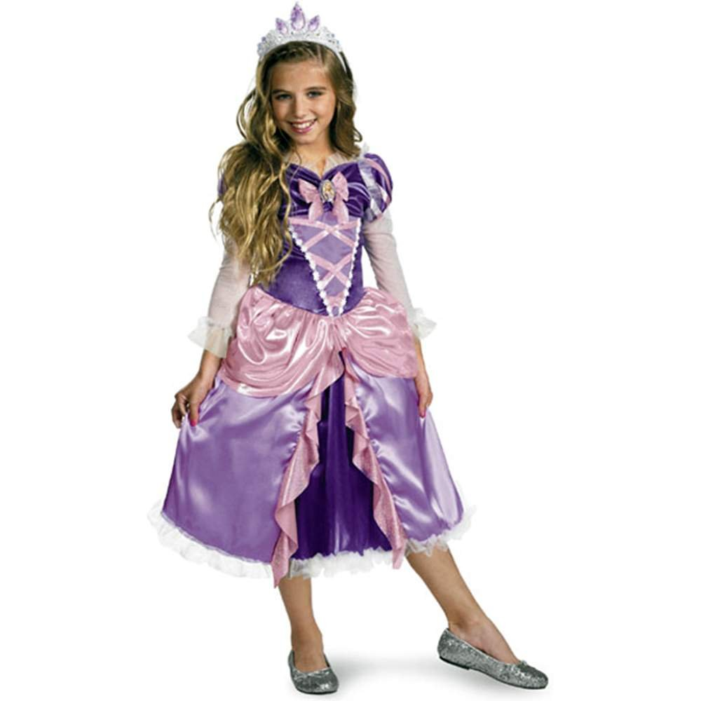 sc 1 st  Amazon.com & Amazon.com: Tangled Princess Rapunzel Shimmer Deluxe Costume: Clothing