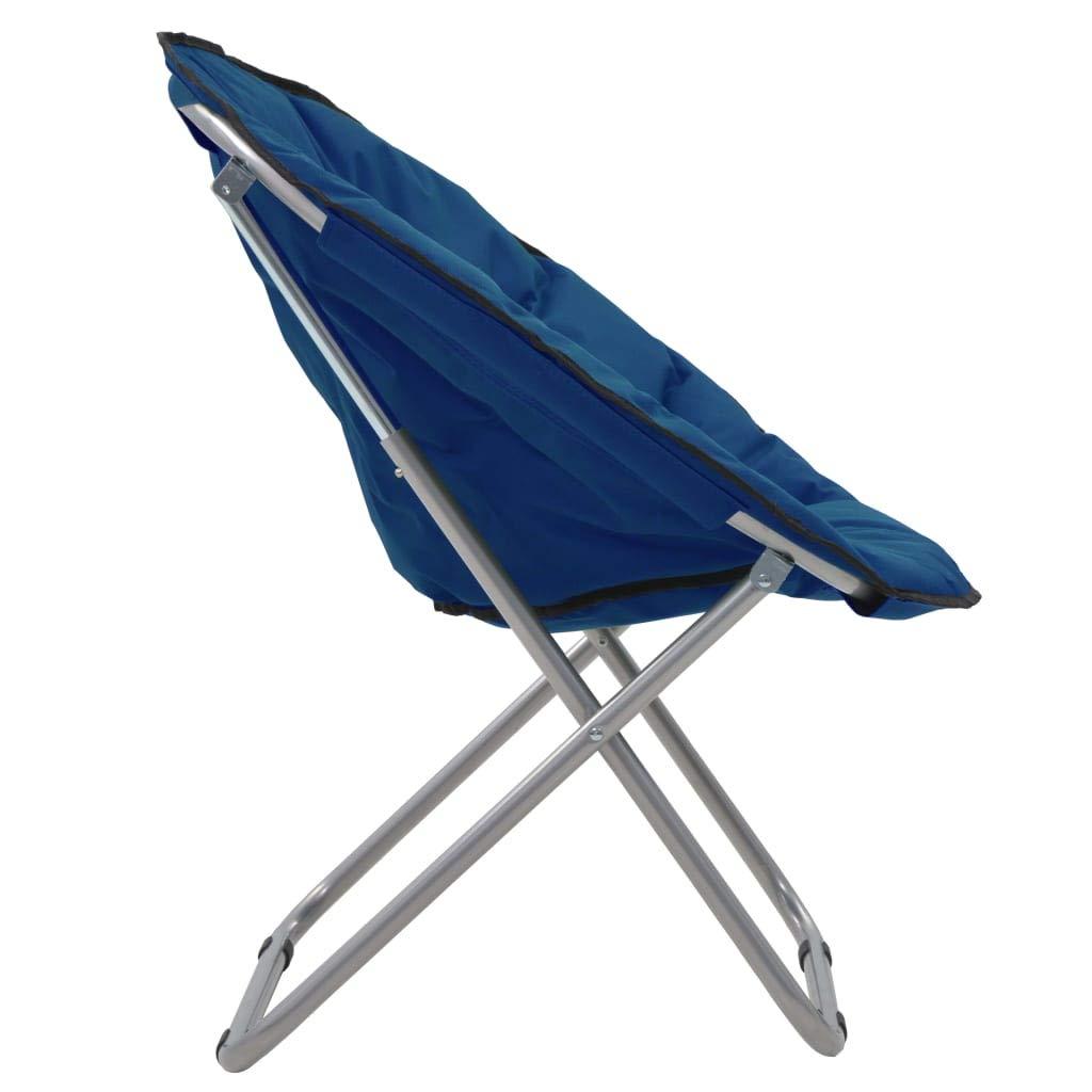 Festnight Chaises Lune Pliable Chaise de Camping Chaise de Jardin 2 pcs Bleu