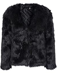 Women's Winter Warm Fluffy Faux Fur Coat Hooded Jacket Cardigan Outerwear Tops for Party Club Cocktail