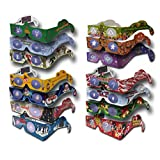 20 Pairs 3D Christmas Glasses - 12 Different Styles - 3Dstereo Holiday Eyes(TM) - - New Mrs. CLAUS & JINGLE BELLS (2014)- SHIPS FOLDED - Transform Christmas Lights Into Magical Images - Holiday Specs
