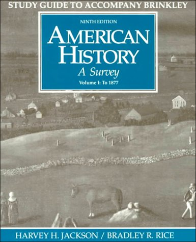 American History: A Survey, Vol. 1 (Student Study Guide, 9th Edition)
