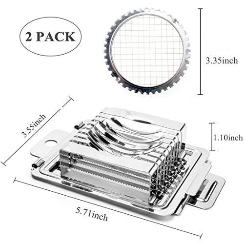 Egg Slicer Stainless Steel Metal Egg Slicer Cutter For Hard