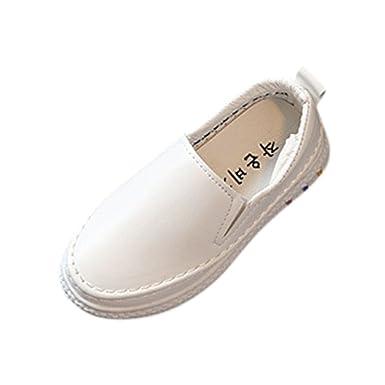 YanHoo Zapatos para niños Calzado Deportivo Casual de Hombre y niña Zapatos Blancos Niños Moda Niños Niñas Zapatillas de Skate Imprimir Sólido Bebé Casual ...
