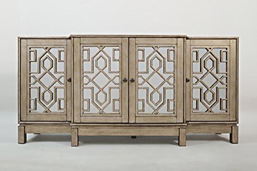 "Jofran: 1550-70, Casa Bella, Mirrored Console, 70""W X 18""D X 34""H, Vintage Silver Finish, (Set of 1) from Jofran"