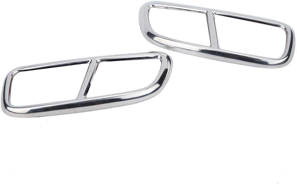 2 St/ück 4 Auspuff Endrohr Rahmenabdeckung Verkleidung Aluminiumlegierung Auspuffblenden Fit f/ür XC90 Auspuffrohr Verkleidung