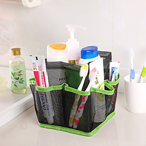 Corner Biz Bath - Cosmetic Bag Storage Pouch Handle Home Travel Organizer Net Gauze Bag (Green)