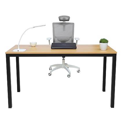 Gaming office desk Shaped Amazoncom Mihe Computer Desk55 Picclick Amazoncom Mihe Computer Desk55
