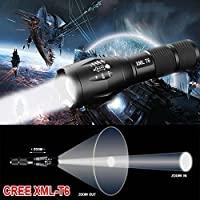 E17 CREE XML T6 LED Zoom Flashlight Waterproof Torch 10000Lm 5 Mode Bright