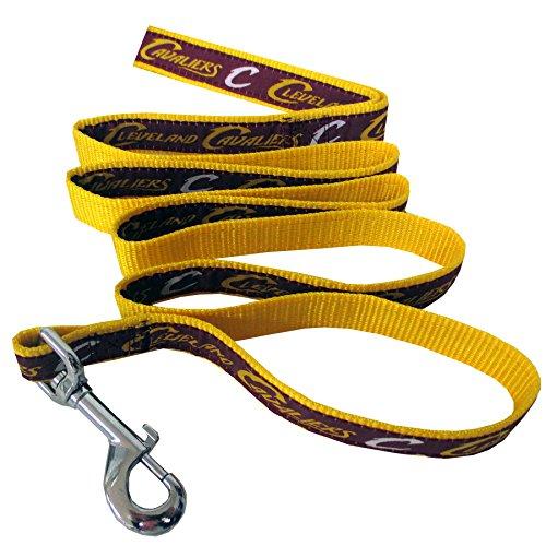 NBA Cleveland Cavaliers Dog Leash, Size Large. Heavy-Duty Metal Swivel Buckle Pet Leash