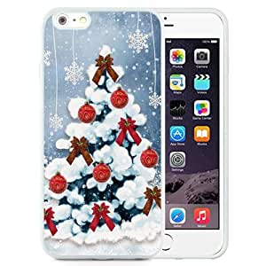 NEW Unique Custom Designed iPhone 6 Plus 5.5 Inch Phone Case With Simple Christmas Tree Red Decorations_White Phone Case