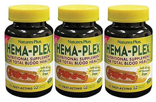3本セット ヘム鉄 ヘマプレックス Hema-Plex (鉄ビタミンCB12葉酸システイン配合)【海外直送品】 B007A2ZXH6