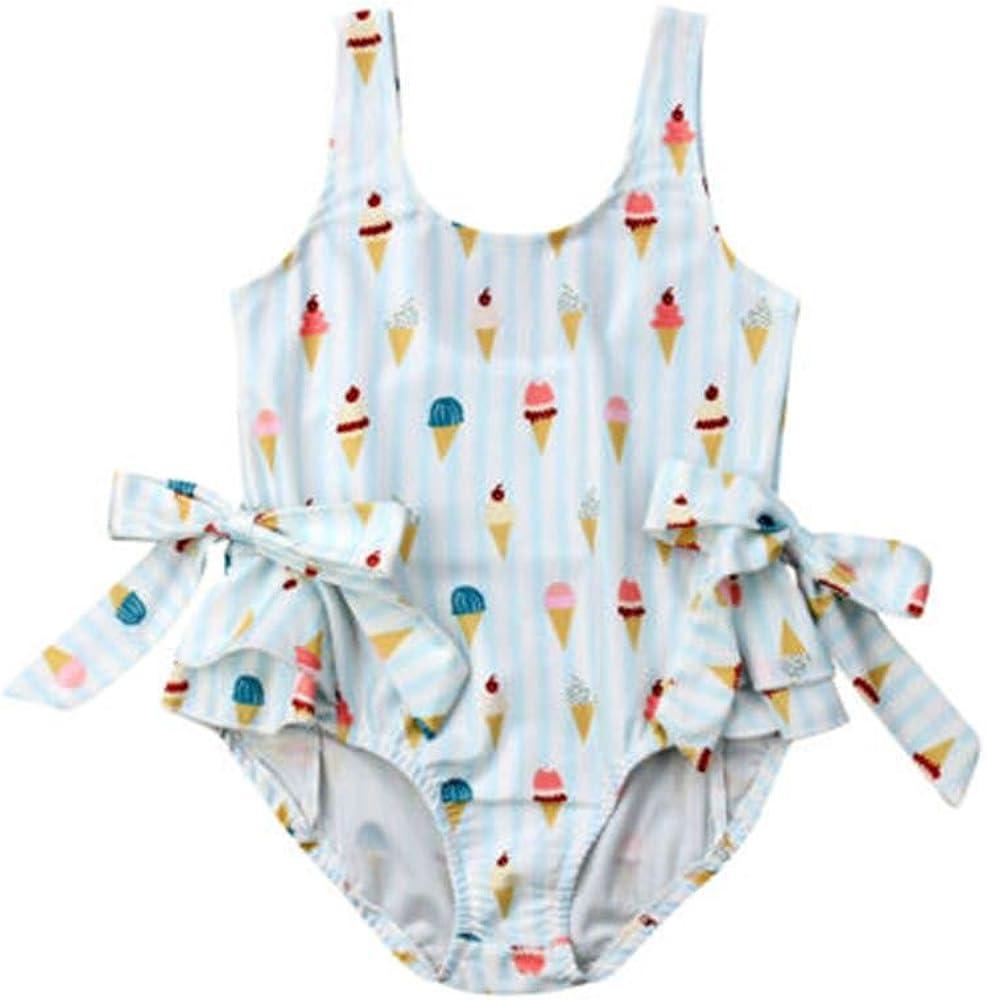 Wang-RX Sommer Kleinkind Baby Kinder M/ädchen Badeanzug Bogen Bikini Badeanzug Strand Bademode 1-5 Jahre
