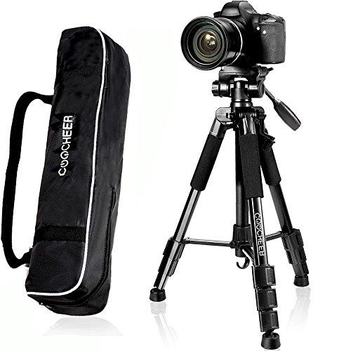 COOCHEER Camera Tripod, 57'' Professional DSLR Aluminum Came