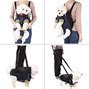 A4Pet Dog Carrier Front Pack for Hiking, Camping, Bike Riding or Travel with Puppy 43