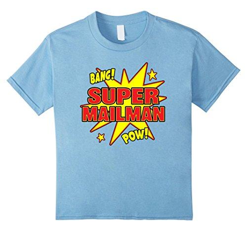 Kids Super Mailman T-Shirt Super Power Halloween Disguise Gif 4 Baby (Mailman Costume For Kids)
