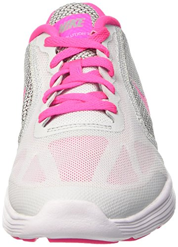 Nike Pink Platinum Zapatillas Wolf Pure GS Niñas Revolution 3 para Grey Blast White Multicolor 007 zF48wqrzx