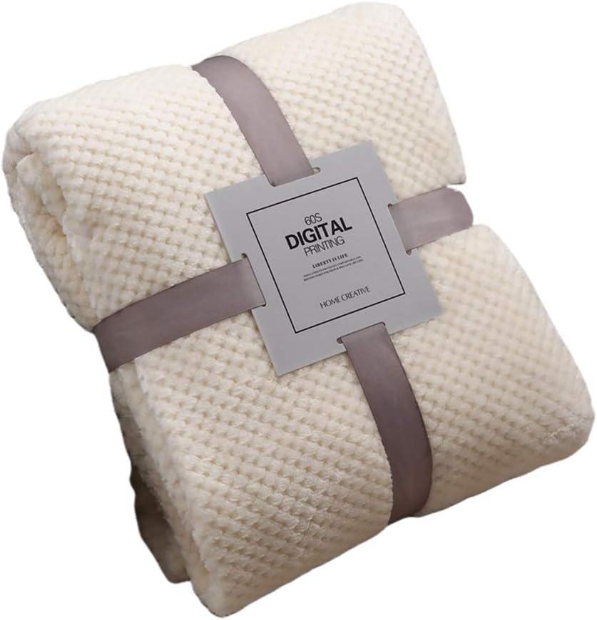 tejido de vell/ón c/álido y caliente gruesa y transpirable Manta de franela de R-Weichong manta de pi/ña monocolor con cama grande productos para beb/é