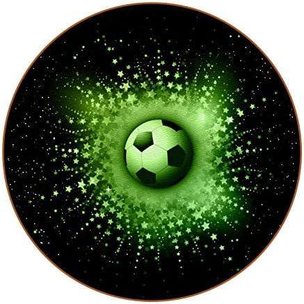 Redondo Portavasos Fútbol Futbol Posavasos de Cuero Juego de 6 Coaster para Vaso/Copa de Bebida/Copa de Vino Tinto/Copas/Vaso de Cerveza 11x11 cm
