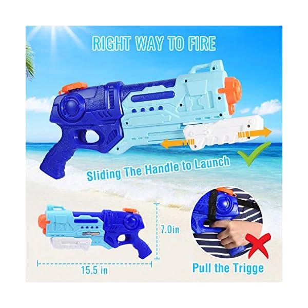 Joyjoz Pistole ad Acqua 1000CC Pistola ad Acqua con Cinturino Acqua Blaster con Cinturino per Piscine Spiaggia Festa… 3 spesavip