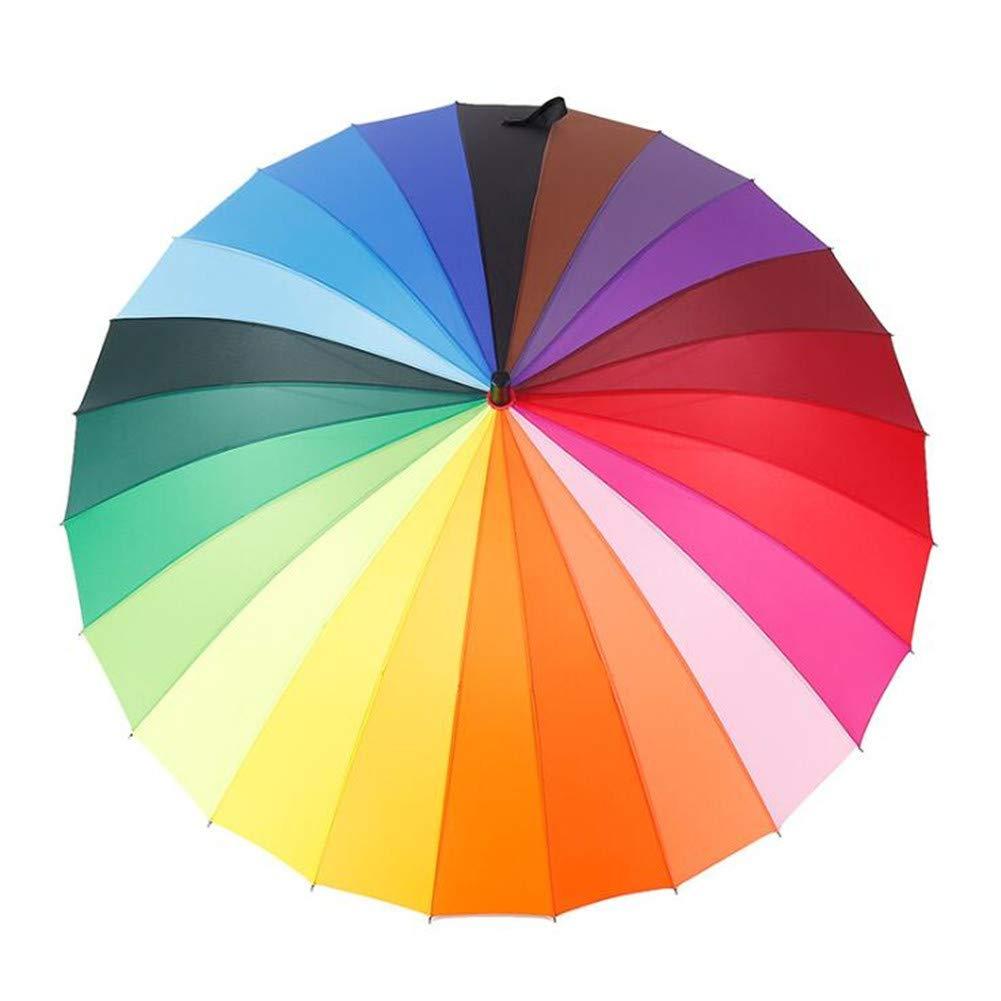 Grand Parapluie Coupe-Vent /à Manches Longues pour Parapluie Arc en Ciel Rainbow Rain Gear Rain Hommes 24