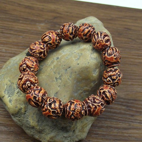 Dragon sculpture prayer beads hand string bracelet Korean men and women fashion stall supply Yiwu small jewelry wholesale
