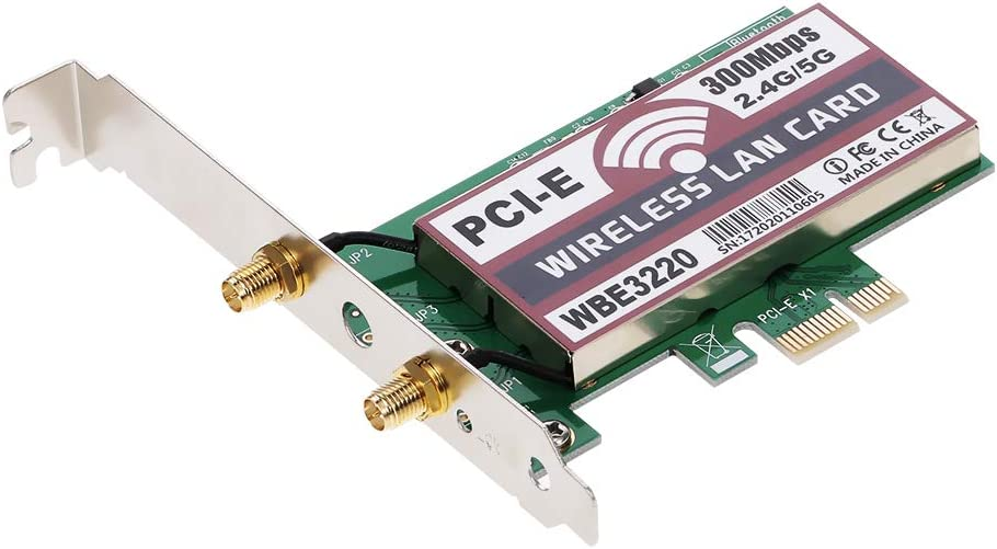 Docooler Wireless LAN Card WiFi Network Card with High-gain Antennas AP Function 300M PCI-E Adapter Card