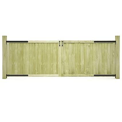 Tidyard Garden Gates 2 pcs Wooden Fence Panels Gate Outdoor Entrance Gates  300x100 cm