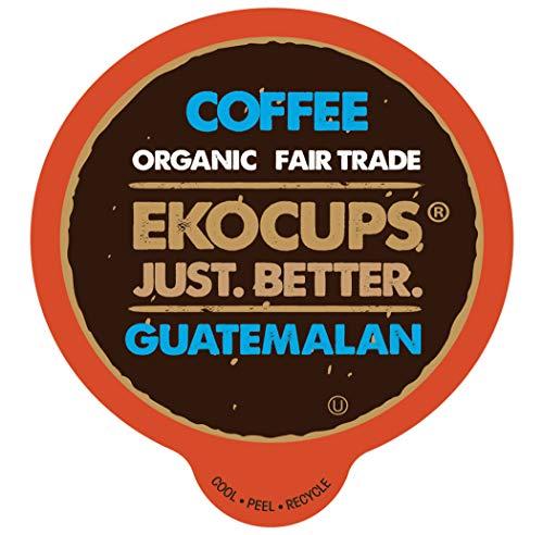 EKOCUPS Artisan Guatemalan Coffee, Medium Roast, Organic Fair Trade, in Recyclable Single Serve Cups for Keurig K-cup Brewers, 40 count