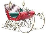 TisYourSeason Life-Size Christmas Outdoor Victorian Santa Sleigh Iron Commercial Christmas Decoration