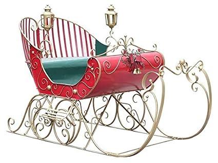 TisYourSeason Life-Size Christmas Outdoor Victorian Santa Sleigh Iron  Commercial Christmas Decoration - Amazon.com: TisYourSeason Life-Size Christmas Outdoor Victorian